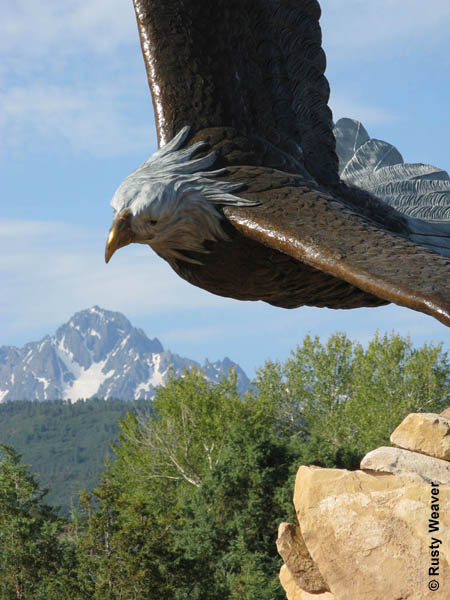 Dennis Weaver Memorial Park Eagle Monument