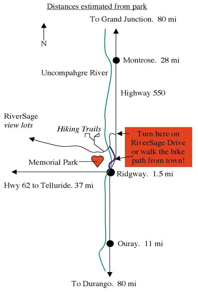 Dennis Weaver Memorial Park Location Map